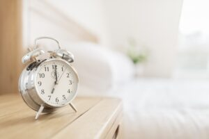 Alarm clock morning wake-up time